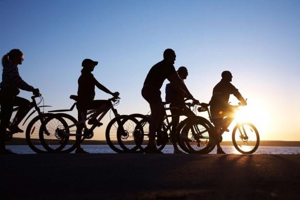 fietsenzonsondergang